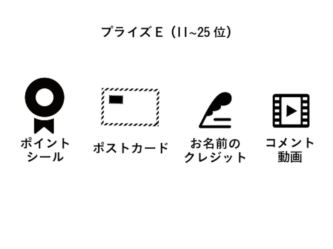 プライズE(11~25位)