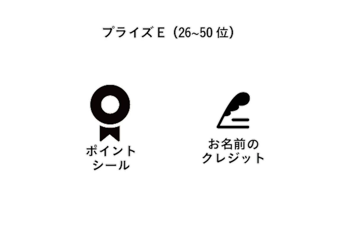 プライズE(26~50位)