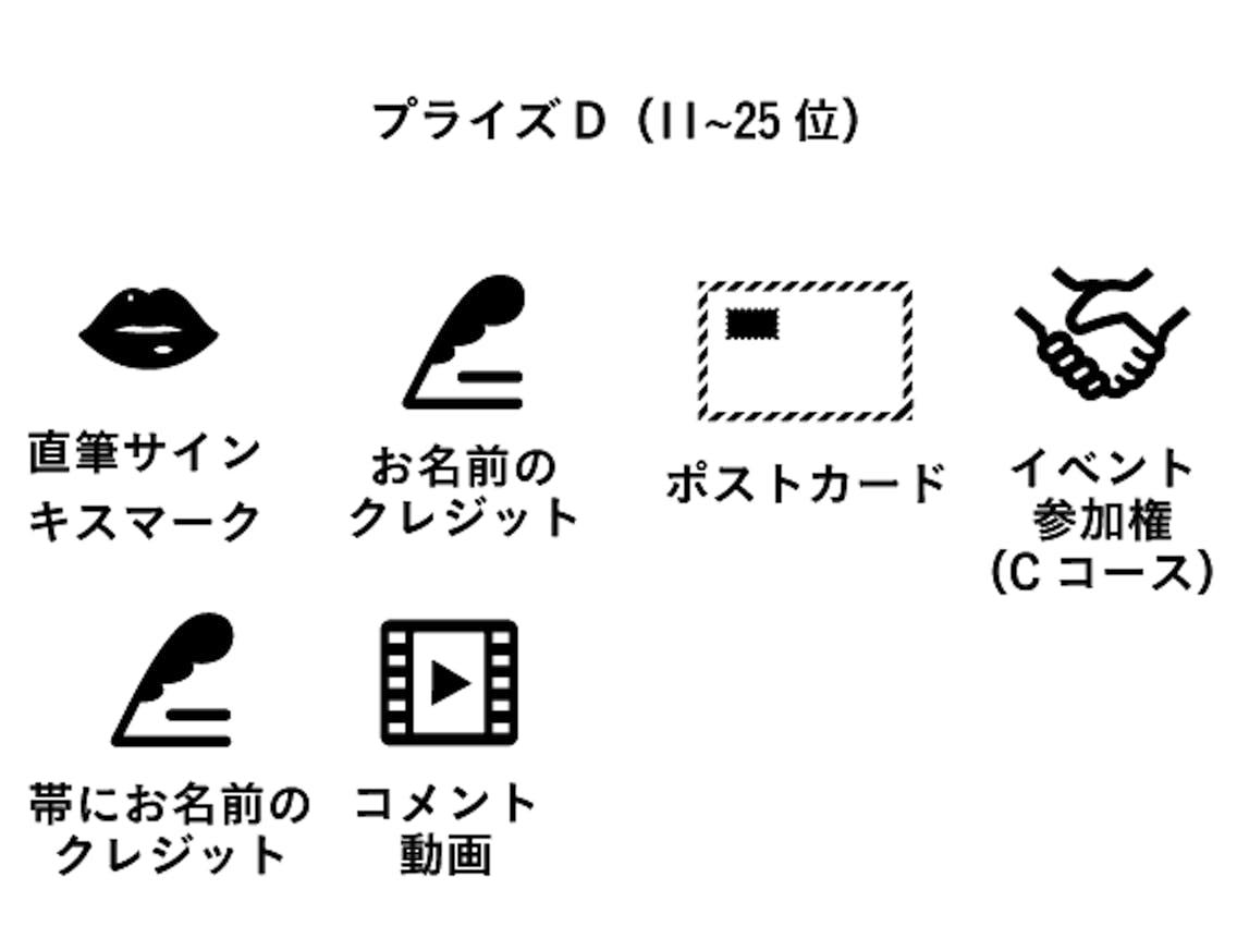 プライズD(11位〜25位)